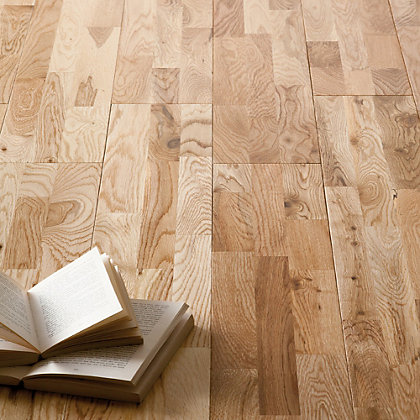 Image for Solid Wood Oak 3 Strip Flooring - 1 sq m per Pack from StoreName