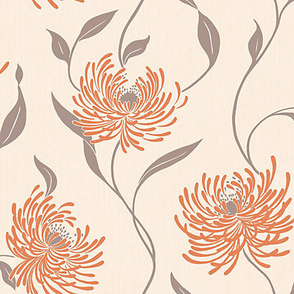 Image for Crown Lola Wallpaper - Tangerine from StoreName