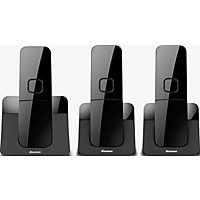 Binatone Luna Black Cordless Telephone - Triple.
