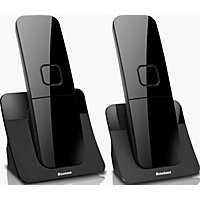 Binatone Luna Black Cordless Telephone - Twin.
