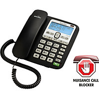 Binatone Acura Corded Telephone with Answer Machine -Single.