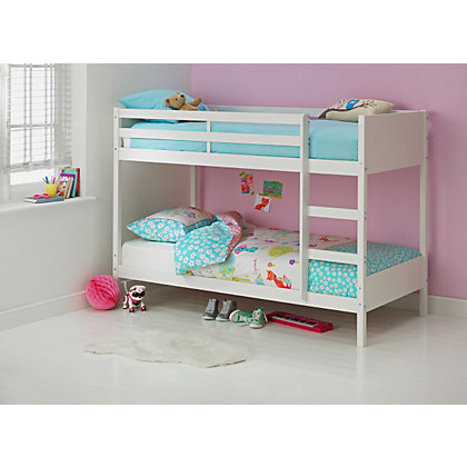 Ellery Single Bunk Bed Frame White