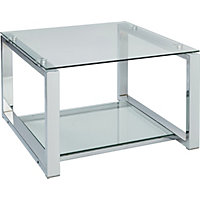 Seattle Coffee Table - Glass and Metal