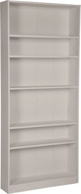 Maine Range Tall Wide Bookcase Grey