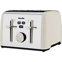Breville Colour Notes 4 Slice toaster - Vanilla Cream.