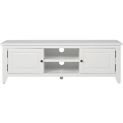 heart of house cambria tv stand white solid wood. Black Bedroom Furniture Sets. Home Design Ideas