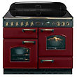 Rangemaster Classic Electric Cooker - Cranberry & Chrome