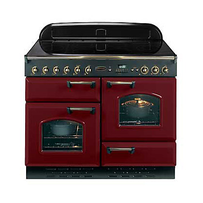 Image for Rangemaster Classic Electric Cooker - Cranberry & Chrome from StoreName
