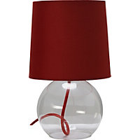 ColourMatch Flexi Glass Lamp - Poppy Red.