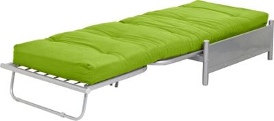 ColourMatch Single Futon Sofa Bed with Mattress Apple Green