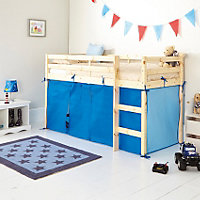 Blue Tent for Shorty Mid Sleeper Bed Frame.