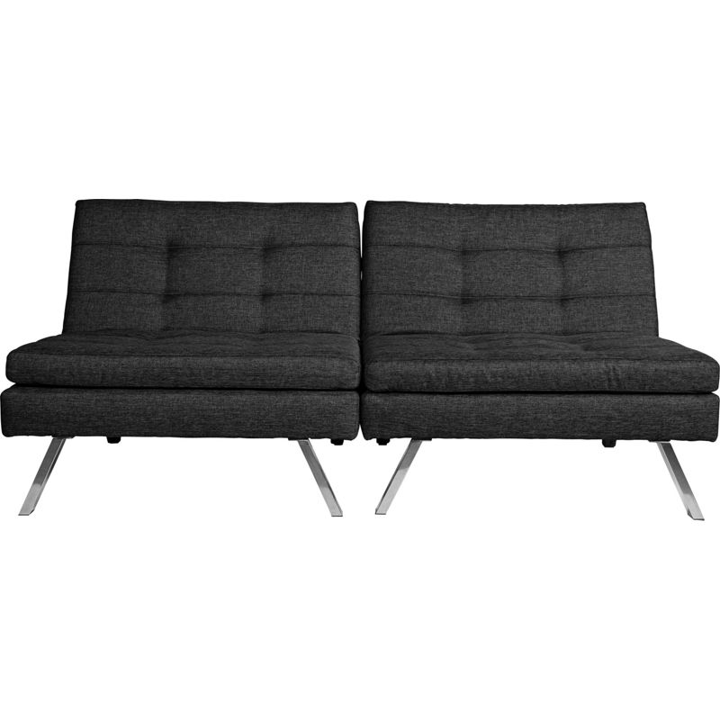 Duo Fabric Clic Clac Sofa Bed – Black.