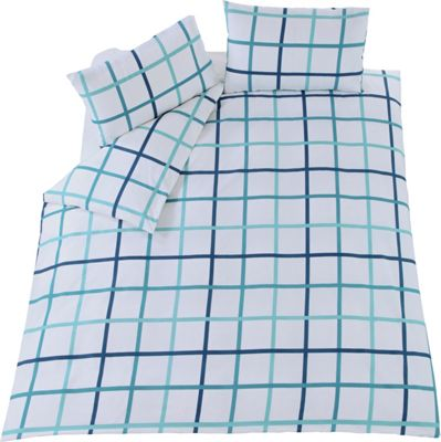 Image of Fraser Blue Twin Pack Bedding Set - Double.