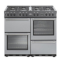 Belling Country Classic 100G Gas Range Cooker - Silver.