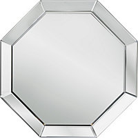 Heart of House Savoy Octagonal Bevelled Wall Mirror - Silver