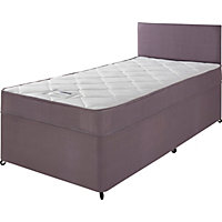 Divans storage beds available online at homebase now for Low single divan bed