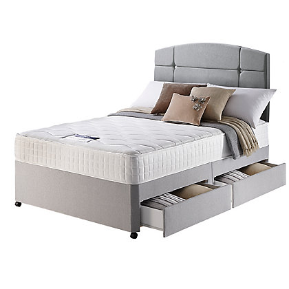 Silentnight ardleigh 1000 pocket kingsize 4 drw divan bed for Silent night divan beds