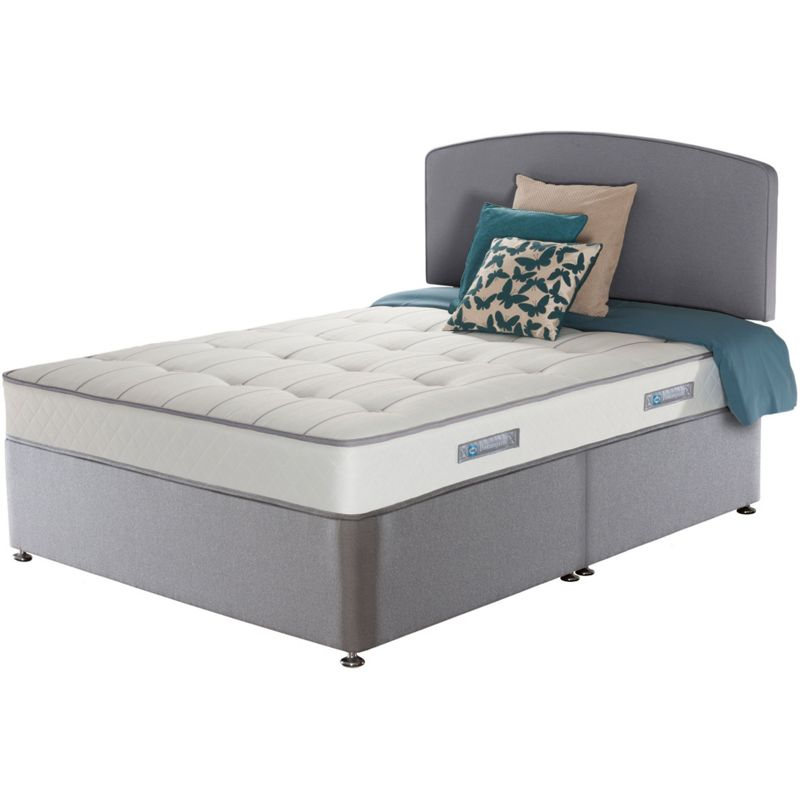 Sealy posturepedic firm ortho double divan bed for Double divan bed with firm mattress
