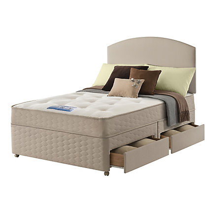 Sealy Relax Backcare Memory Kingsize 4 Drawer Divan Bed