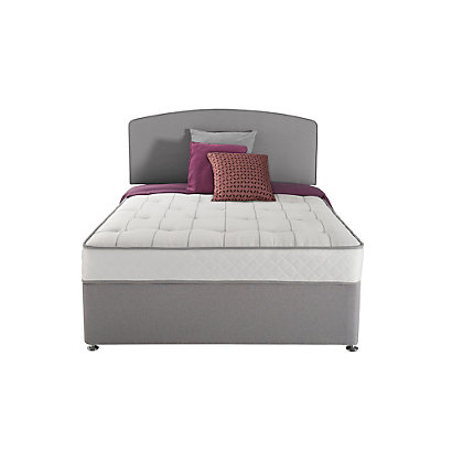 Sealy posturepedic firm ortho memory double 4 drw divan bed for Double divan bed with firm mattress