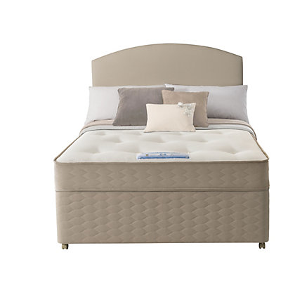 Sealy unwind backcare double 2 drawer divan bed for Divan unwind