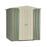 Store More Lotus Apex Steel Shed - 6ft x 5ft