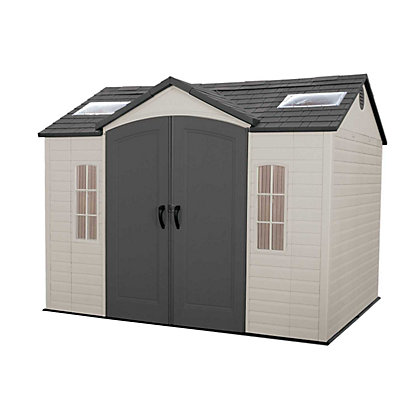 Image for Store More Lifetime Plastic Shed with Windows and Skylights - 10ft x 8ft from StoreName