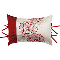 Home of Style Olivia Boudoir Cushion - Red - 30 x 45cm
