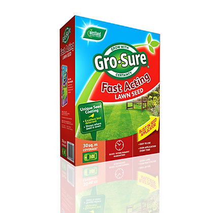 Image for Westland Gro-sure Fast Acting Lawn Seed - 0.9kg from StoreName