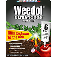 Weedol Ultra Tough Weedkiller Liquid Concentrate Tubes - 33% Extra Free