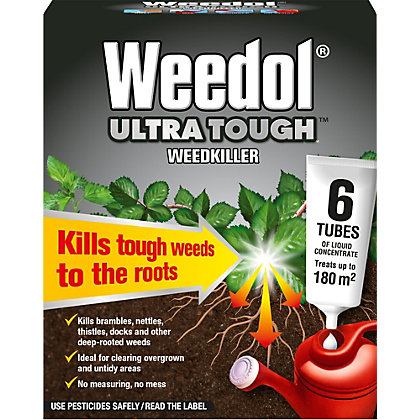 Image for Weedol Ultra Tough Liquid Concentrate Weedkiller - 6 Tubes from StoreName