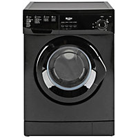 Bush F841QB 8KG 1400 Spin Washing Machine-Black/Ins/Del/Rec.