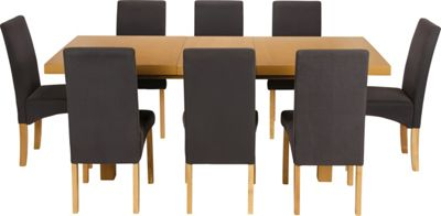 Cosgrove Extendable Oak Dining Table and 8 Charcoal Chairs : 331459RZ001largeampwid800amphei800 from diningroomtableandchairs.co.uk size 800 x 800 jpeg 26kB