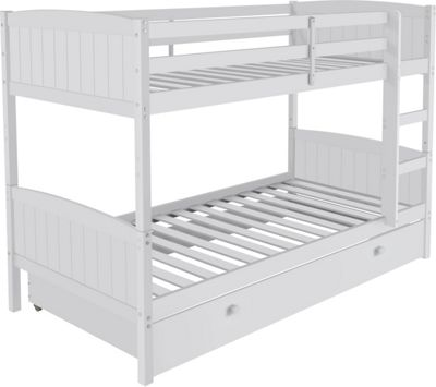 Amy White Bunk Bed With Storage And Bibby Mattress