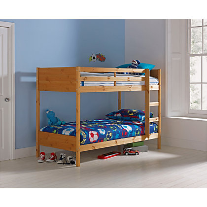 Amy Pine Bunk Bed With Trundle Frame Only