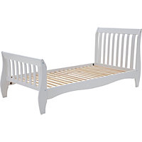 Daisy Sleigh Single Bed Frame - White.
