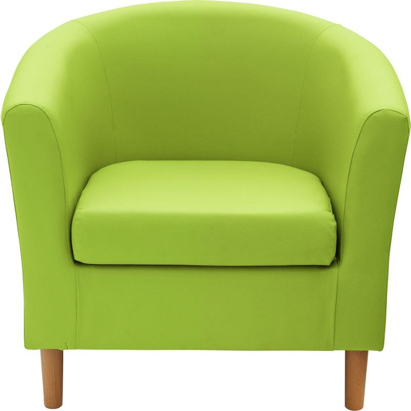 ColourMatch Fabric Tub Sofa Apple Green