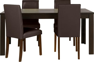 Penley Oak Extendable Dining Table and 6 Chocolate Chairs  : 332573RZ001largeampwid800amphei800 from www.247homechic.co.uk size 800 x 800 jpeg 31kB