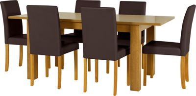Penley Oak Extendable Dining Table and 6 Chocolate Chairs  : 332575RZ001largeampwid800amphei800 from www.247homechic.co.uk size 800 x 800 jpeg 31kB