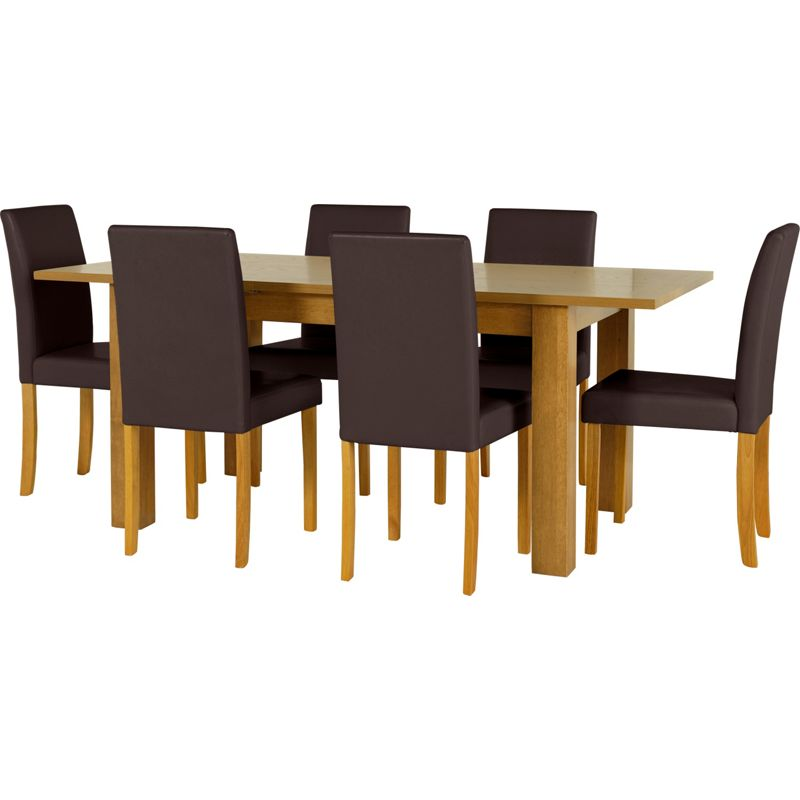price search results for penley oak extendable dining table and 6