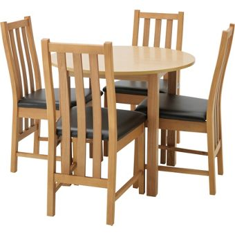 Pine dining room furniture for Dining room tables homebase