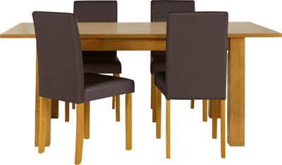 oak dining table 4 chairs best price gallery