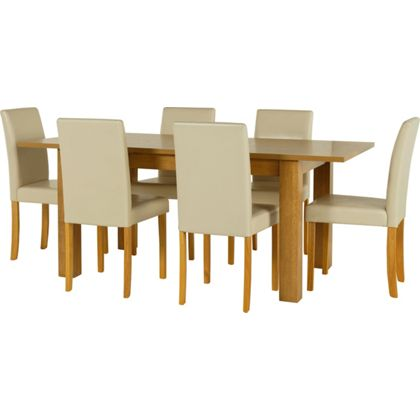 Penley Oak Stain Extendable Dining Table