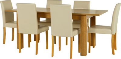 Penley Oak Extendable Dining Table and 6 Chocolate Chairs  : 332606RZ001largeampwid800amphei800 from www.247homechic.co.uk size 800 x 800 jpeg 30kB