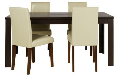 Penley Oak Extendable Dining Table and 6 Chocolate Chairs  : 332608RZ001largeampwid800amphei800 from www.247homechic.co.uk size 800 x 800 jpeg 28kB