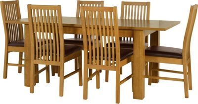 Penley Oak Extendable Dining Table and 6 Chocolate Chairs  : 332612RZ001largeampwid800amphei800 from www.247homechic.co.uk size 800 x 800 jpeg 56kB