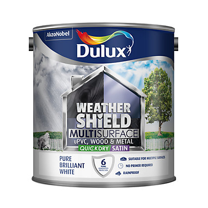 Image for Dulux Weathershield Multi Surface Quick Dry Satin White - 2.5L from StoreName