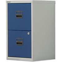 Bisley 2 Drawer A4 Filing Cabinet - Grey