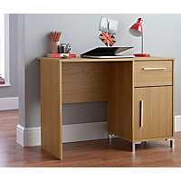 Paton Office Desk - Oak Effect.