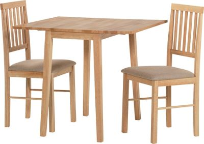 Homebase kendall drop leaf extendable dining table and 2 for Top rated dining tables